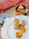 かぼちゃとレーズンのサラダ。とろけるチーズでハロウィーン♪