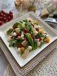 不思議野菜「アイスプラント」とトマトのチーズサラダ