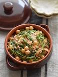 【3分・ラクうま】包丁不要〜豆苗とひよこ豆のツナキムチ