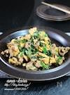 豚肉とニラの甘辛炒め・たまご入り。