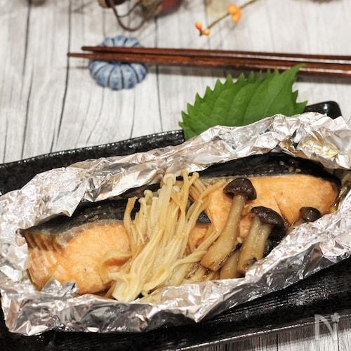 鮭の味噌バターホイル焼き