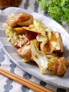 さっぱり『鶏肉とサツマイモとキャベツのバタポン炒め』