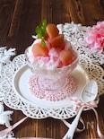 桃のかき氷🍑