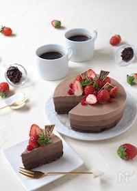 『材料4つ!混ぜるだけ!グラデーション・ヨーグルトチョコケーキ』