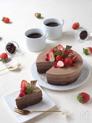 材料4つ!混ぜるだけ!グラデーション・ヨーグルトチョコケーキ