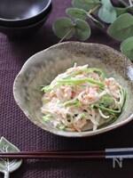 3分で美味しい副菜♡大根とピーマンのツナマヨおかか和え