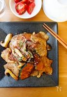 『ご飯がすすむ!豚肉とかぼちゃときのこのニンニク醤油炒め』