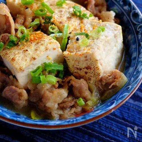 染み染み美味しい☆焼き豆腐の肉豆腐!
