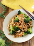 【らくレピ】豚肉とブロッコリーの中華風炒め