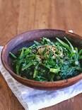 春菊の塩昆布辛子マヨサラダ