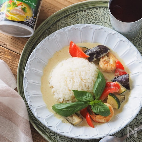 【15分】基本のグリーンカレー【作り置き・大量消費・夏野菜】