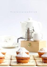 『ミニ♡ヴィクトリアサンドイッチケーキ!【マフィン型】』