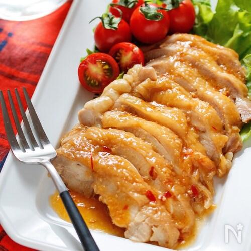 はちみつ味噌de鶏チャーシュー【#レンジ#下味不要#むね肉】