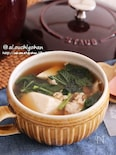 片栗粉不要!夏バテ防止に豆腐とモロヘイヤのとろみスープ♡