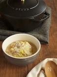白菜と豚肉の春雨スープ