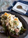 レンジで手軽に!鮭入り具だくさんおかずポテトサラダ