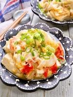 シーフードミックスで作る♡『海鮮かにたま豆腐』