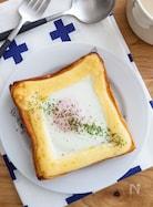 とろ〜り卵のっけトースト