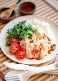 『ダッチオーブンで海南鶏飯』