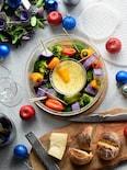 レンチン♥手間なし♥簡単♥カラフル温野菜とチーズフォンデュ