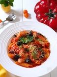 シチリアーナ🇮🇹茄子とモッツァレラのトマトパスタ