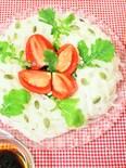 柚子胡椒ドレッシングde大根のリースサラダ