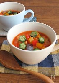 『栄養たっぷり◎ビタミン補給☆夏野菜のトマトクリームスープ』