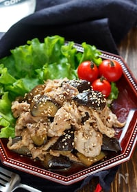 『豚こまとなすの甘辛生姜焼き【#作り置き #お弁当】』