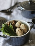 爽やかチキンミントボールと水菜のハリハリ鍋
