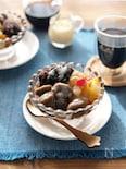 コーヒー白玉のフルーツあんみつ