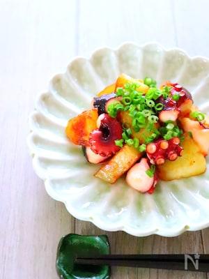 【簡単おつまみ】タコとじゃがいものめんつゆマヨ炒めの作り方