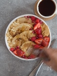いちごとラズベリーのパンケーキ