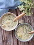 簡単ヘルシー激旨♡じゃがいものバジル香る豆乳スープ