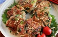 【豚ニラもやしの中華風肉だんご】お野菜お肉が一緒にとれる!