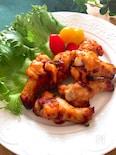 ポリ袋で簡単・調味料一律大さじ1♡手羽元の韓国風オーブン焼き