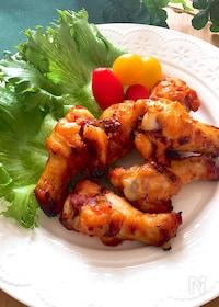 『ポリ袋で簡単・調味料一律大さじ1♡手羽元の韓国風オーブン焼き』