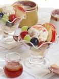 秋満載!焼き芋と焼きリンゴのアイス♡シナモンメープルをかけて