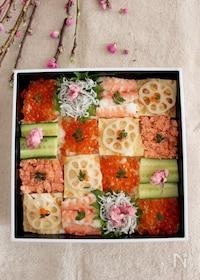 『ひな祭りにも*お花見にも*彩りきれいなモザイク寿司♡』