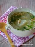 トロトロかぶと桜えびのかき玉スープ