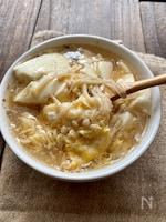 ほっこり満腹♪豆腐とえのきのとろみ中華スープ