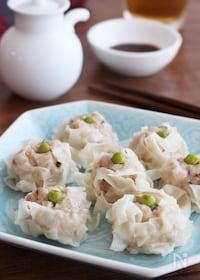『フライパンでお手軽!こどもも大好き♪ふわふわ豆腐しゅうまい』
