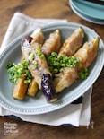夏野菜 かさまし 節約 【茄子の味噌肉巻き】