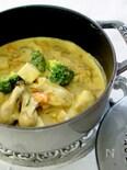 牡蠣と里芋のカレーシチュー