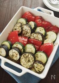 『野菜がウマい!夏野菜のガーリックマーガリン焼き』