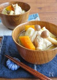『かぼちゃの甘みでほっこり♪食べるスープ☆具沢山豚汁』
