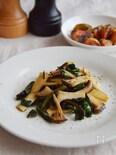 簡単!ビーツの葉とエリンギのバターソテー。洋風の副菜♪