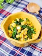 子供が喜ぶ簡単副菜♡『ほうれん草とコーンのバター醤油』