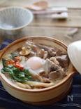 【ごちそううどん】土鍋すき焼き煮込みうどん♪