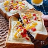 こどものオヤツ&朝ごはんに最適☆パプリカチーズマヨトースト