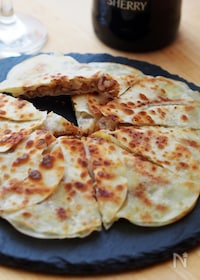 『クルミ味噌チーズのクリスピー餃子』